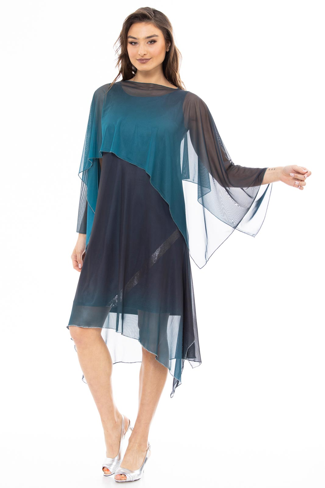 Ronit dress with scarff