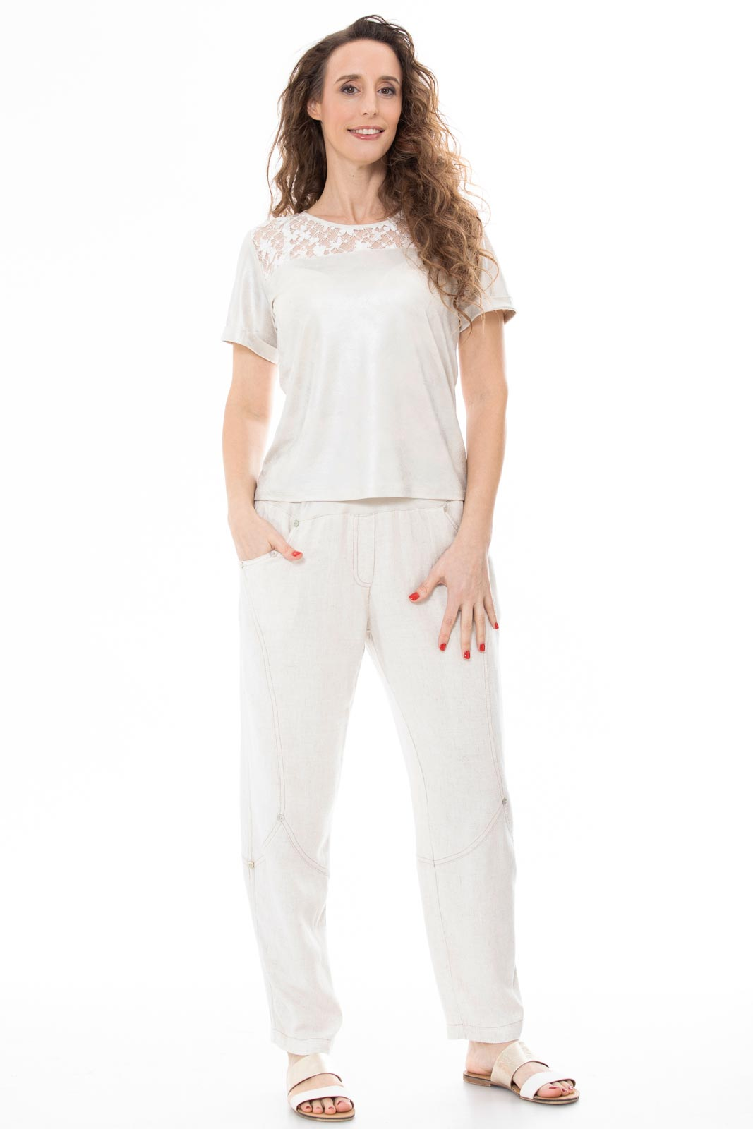 Linen-shaped  pants